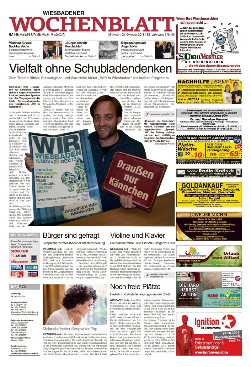 Wiesbadener Wochenblatt vom 21.10.2015