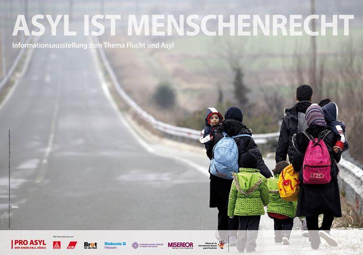 """""""Asyl ist Menschenrecht"""" Vernissage & Podiumsgespräch"""
